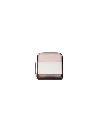 Marni Squared wallet in leather pink Woman