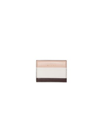 Marni Rectangular wallet in pink calfskin Woman