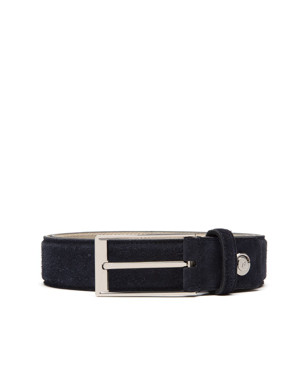 BRIONI Blue Adjustable Belt in Velour Belt Man r