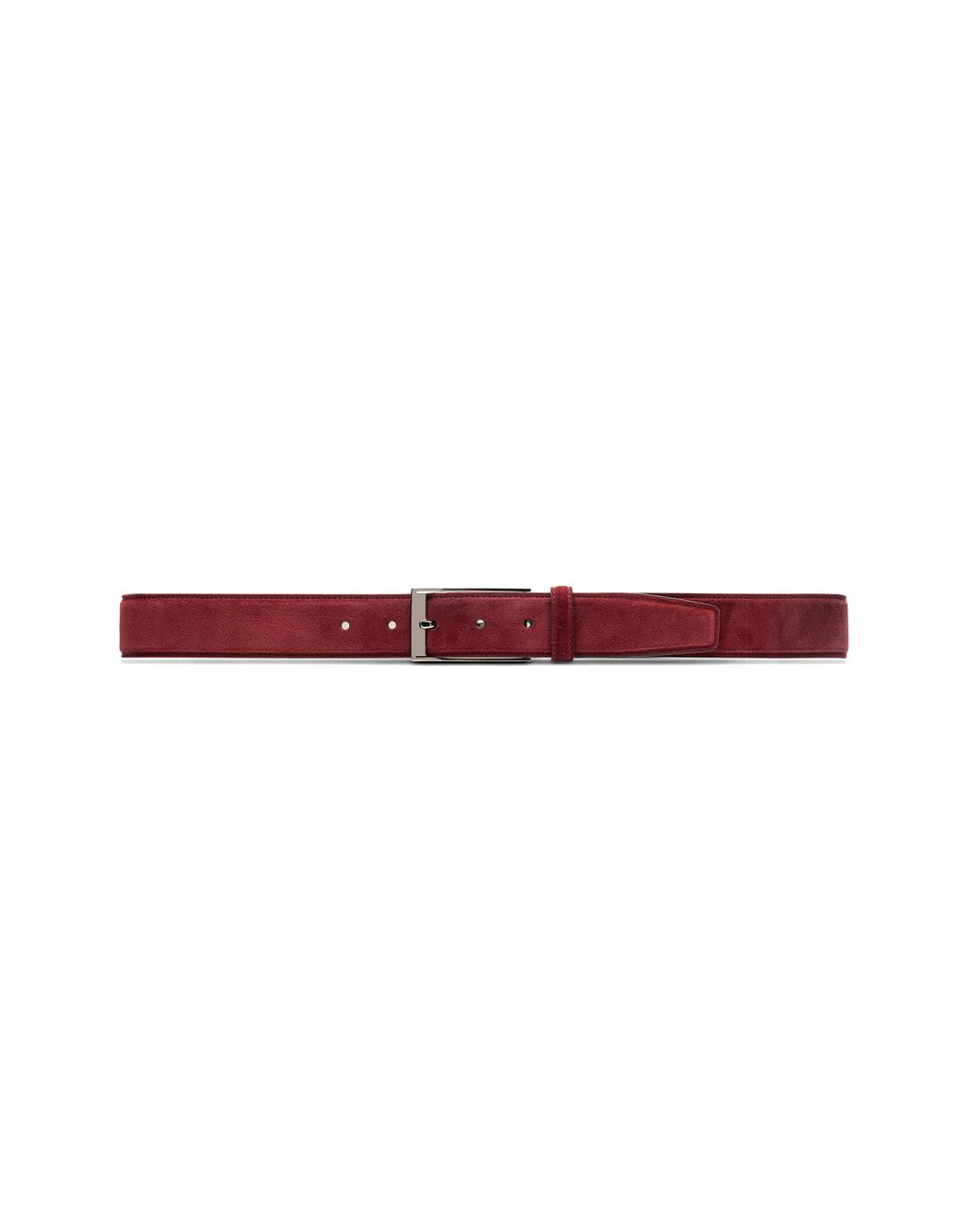 BRIONI Bordeaux Adjustable Belt in Velour Belt Man f