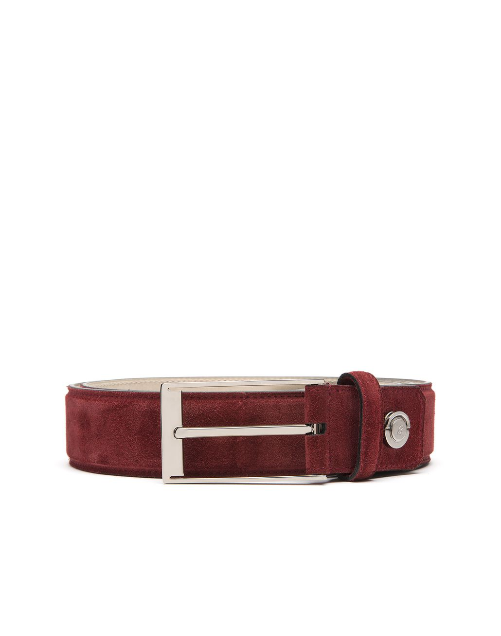 BRIONI Bordeaux Adjustable Belt in Velour Belt Man r