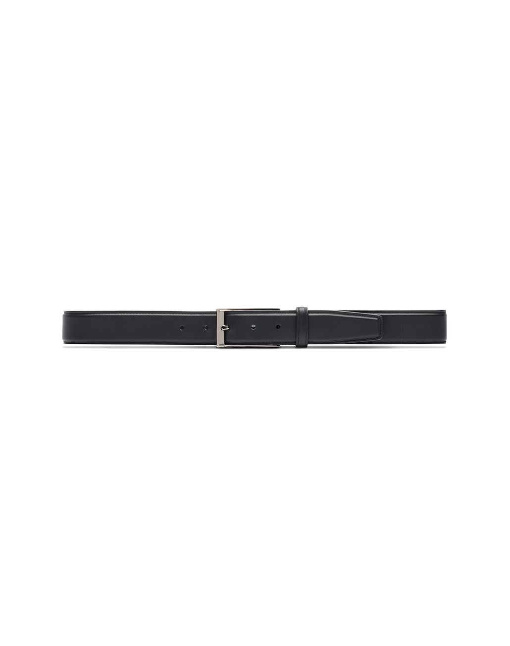 BRIONI Black Adjustable Calfskin Belt Belt Man f