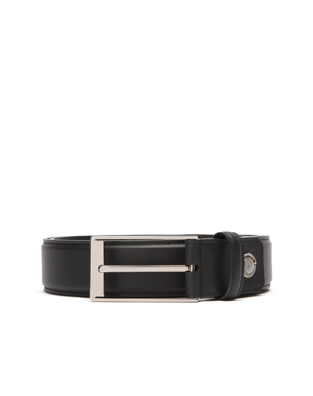 BRIONI Black Adjustable Calfskin Belt Belt Man r