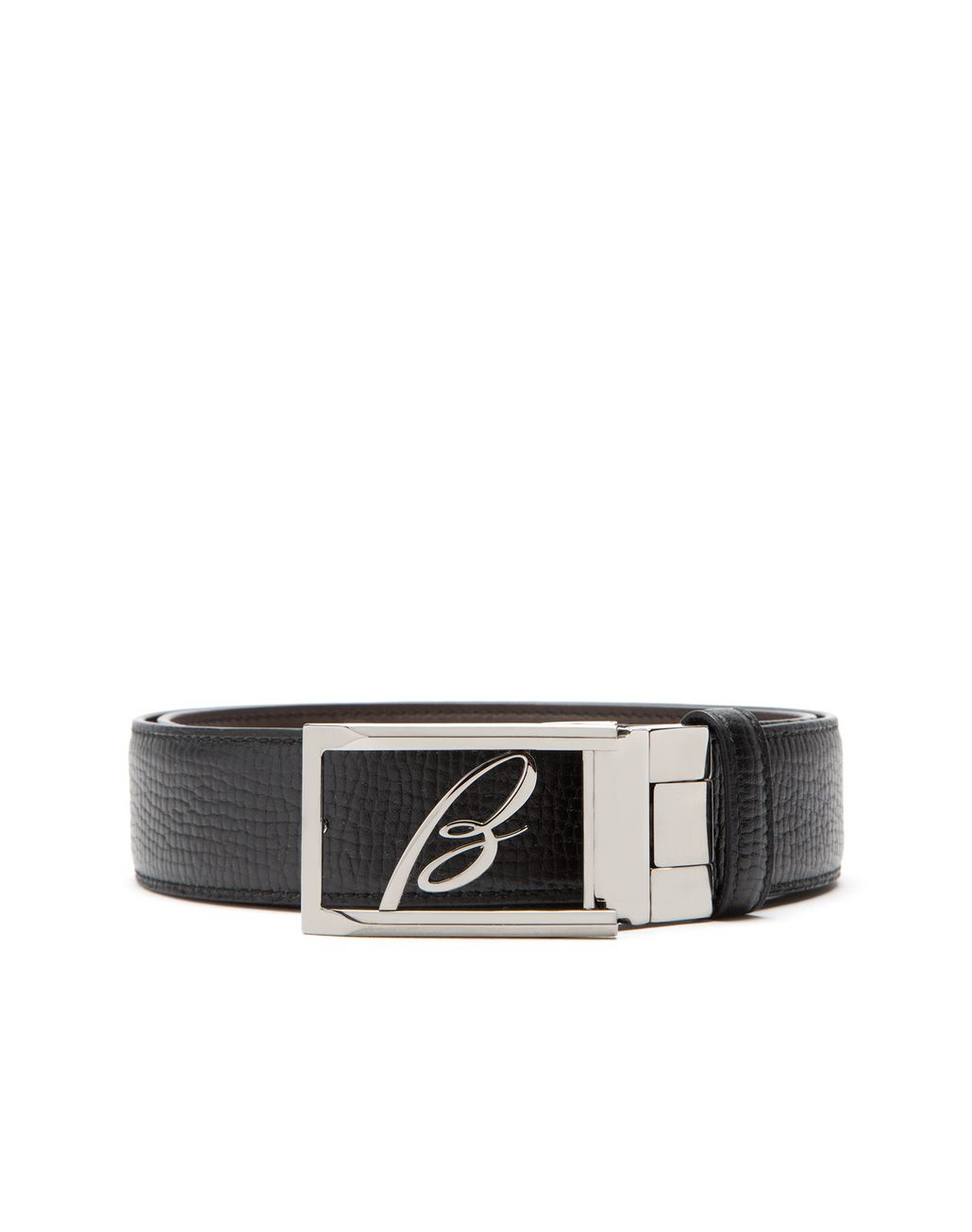 BRIONI Black Adjustable and Reversible Logoed Belt Belt Man a