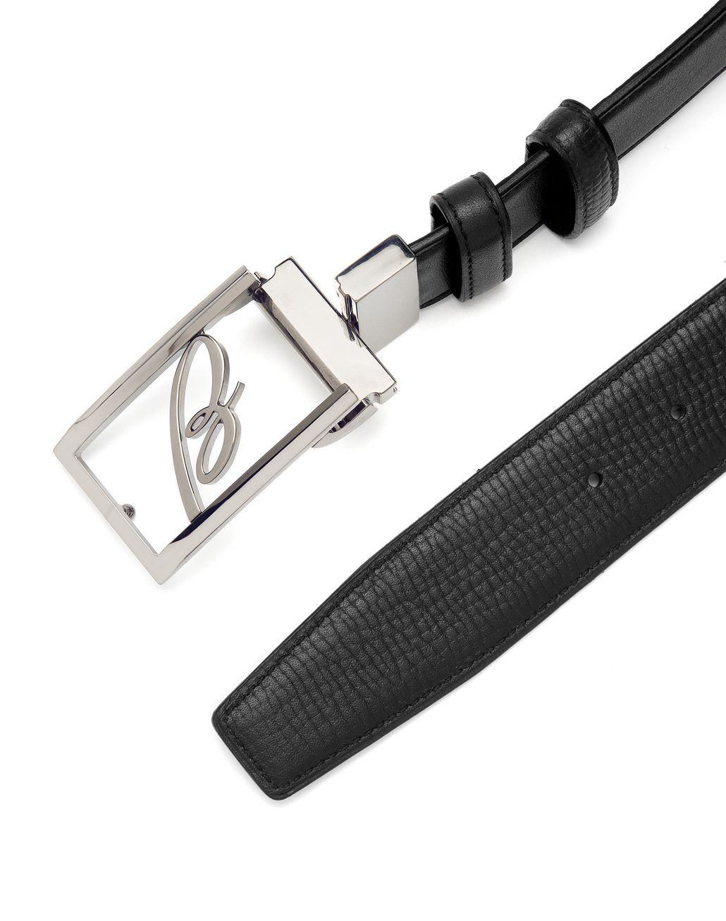 BRIONI Black Adjustable and Reversible Logoed Belt Belt U d