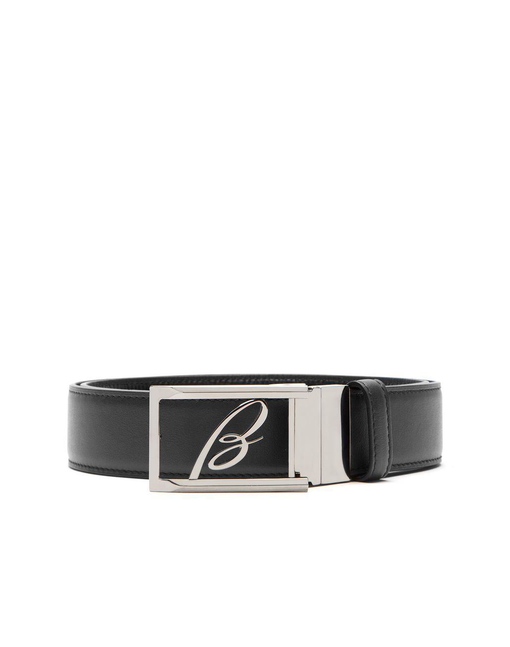 BRIONI Black Adjustable and Reversible Logoed Belt Belt Man r