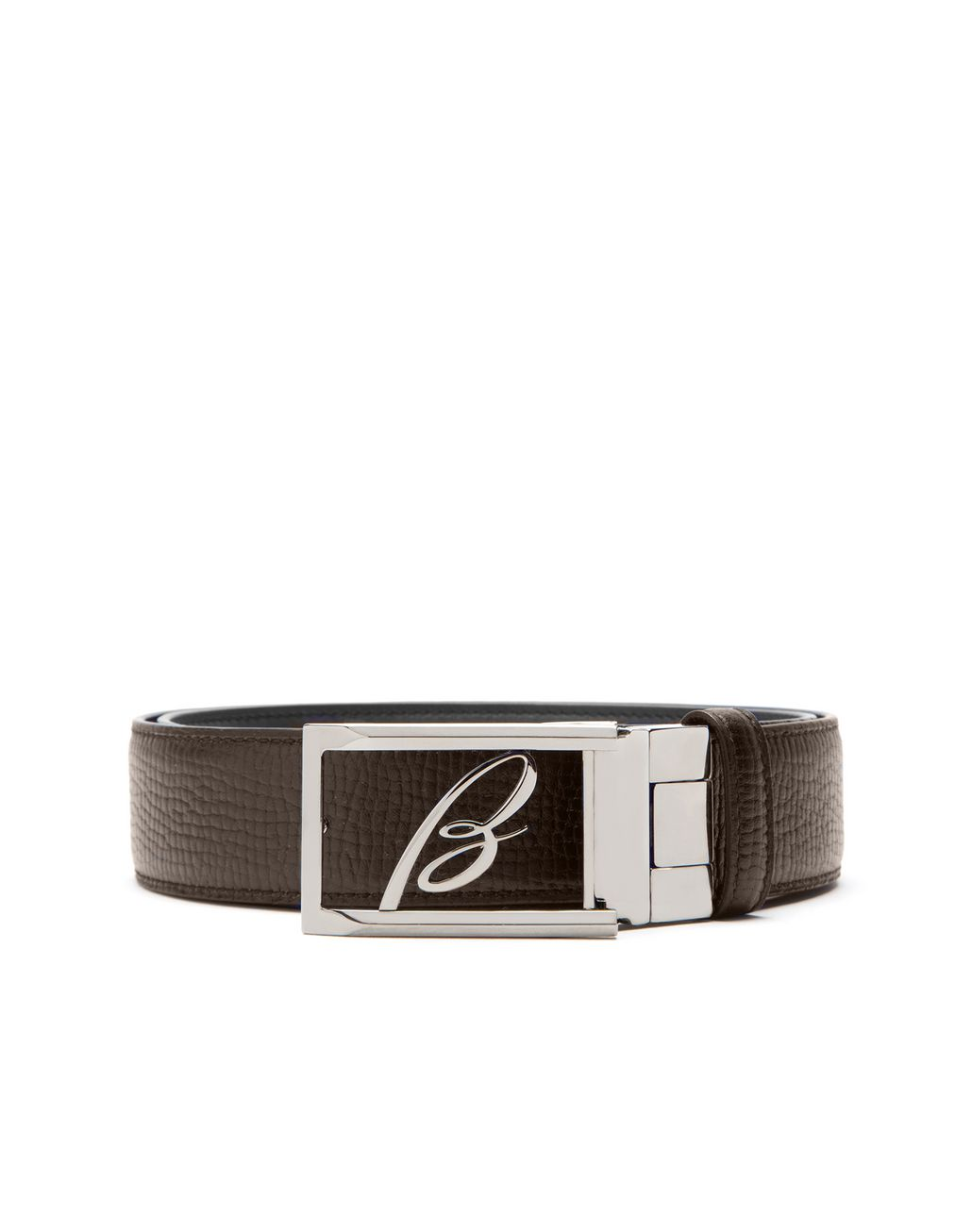 BRIONI Blue and Brown Adjustable and Reversible Logoed Belt Belt Man a