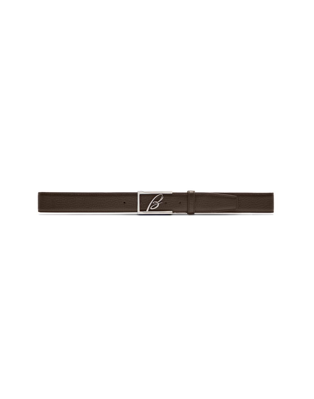 BRIONI Blue and Brown Adjustable and Reversible Logoed Belt Belt U e