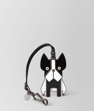 NERO NAPPA/ENAMEL DOG CHARM