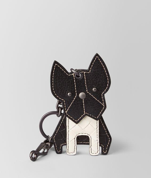 Bottega Veneta Black Dog Keychain sDHactKoNe