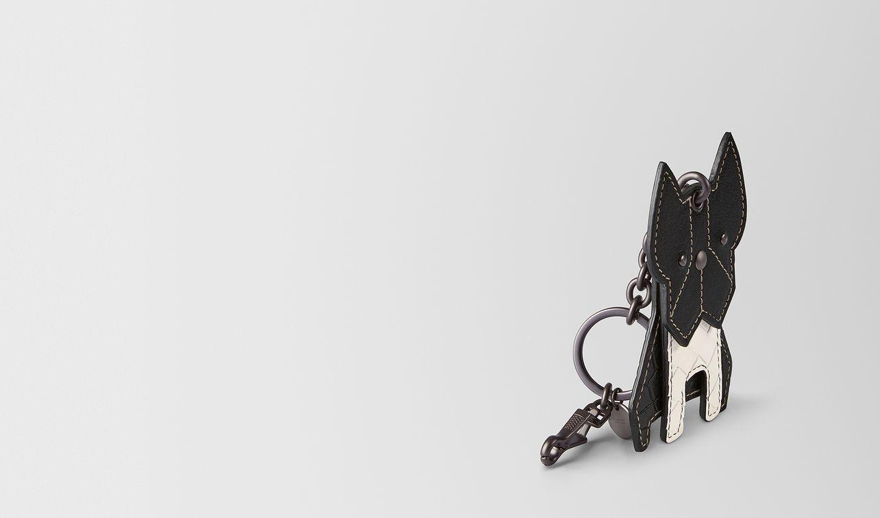 nero goat/intrecciato nappa charm landing