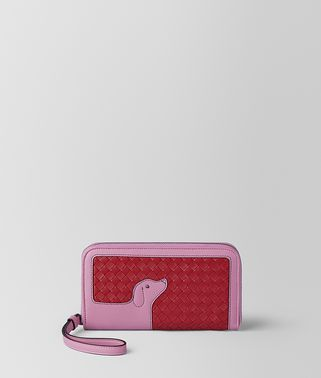 CHINA RED NAPPA ZIP-AROUND WALLET