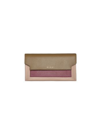 Marni Clutch wallet in saffiano calfskin  Woman