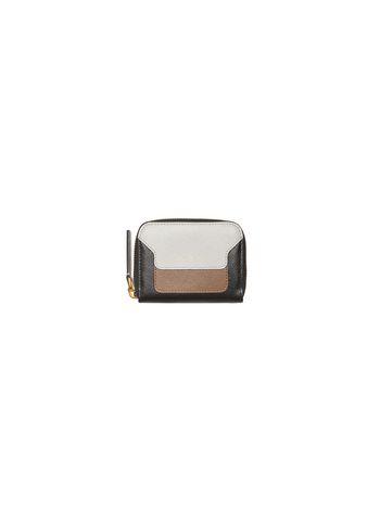 Marni Zip-around coin purse in saffiano calfskin Woman