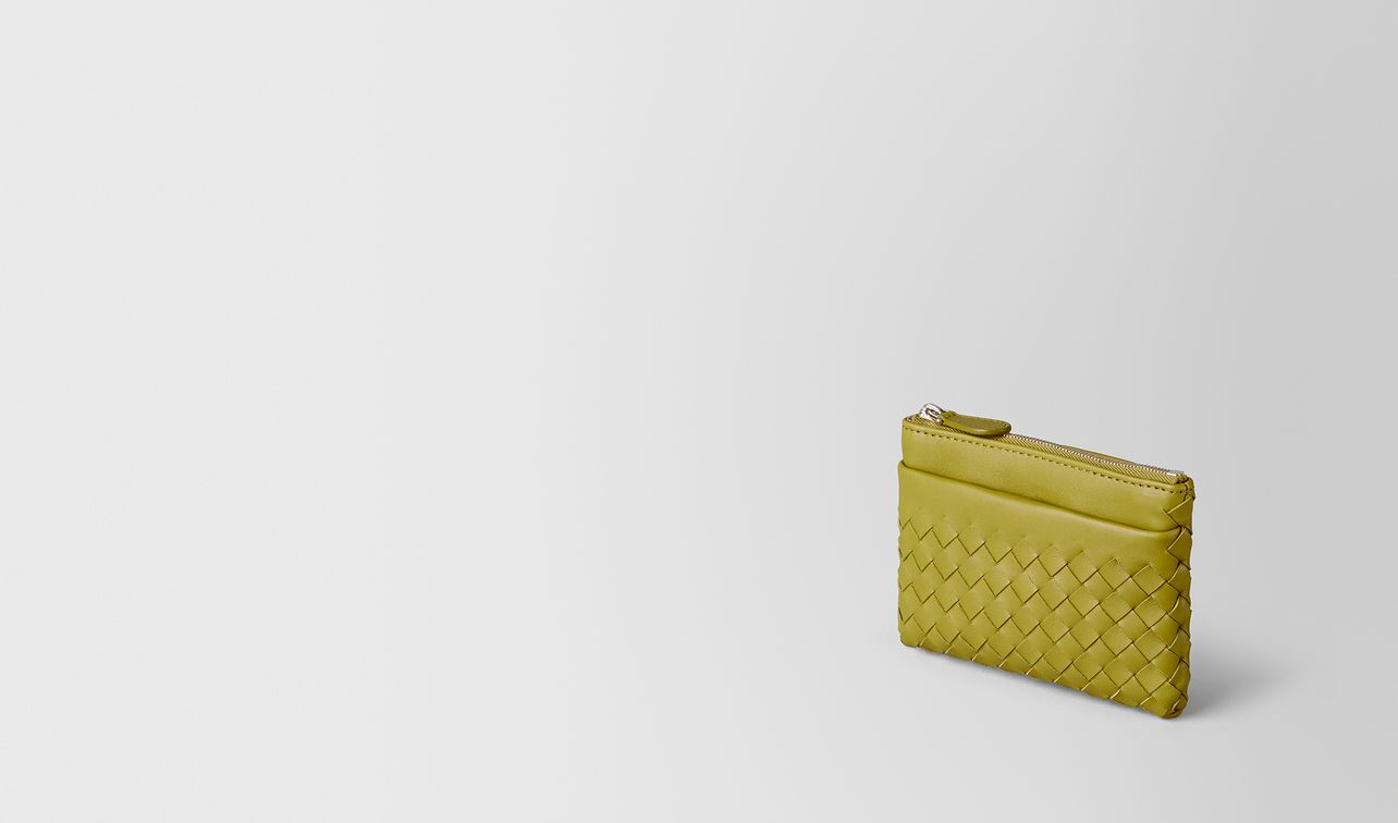 Bottega Veneta Chamomile Intrecciato Nappa Key Holder Chamomile