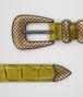 ceinture en cuir crocodile chamomile Photo du côté droit