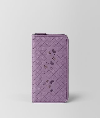 LILAC INTRECCIATO NAPPA AYERS ZIP-AROUND WALLET