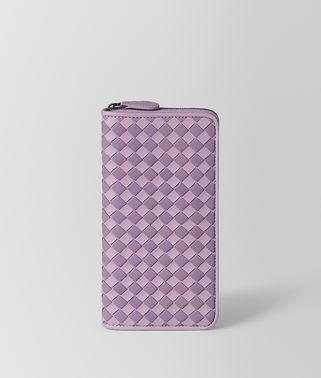 PARME LILAC INTRECCIATO PALIO ZIP-AROUND WALLET