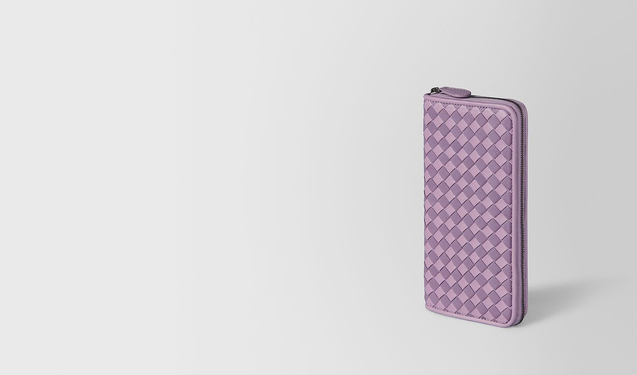 parme lilac intrecciato palio zip-around wallet landing