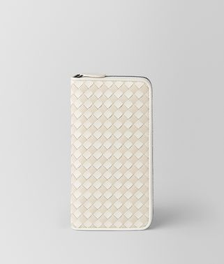 LATTE MIST INTRECCIATO PALIO ZIP-AROUND WALLET