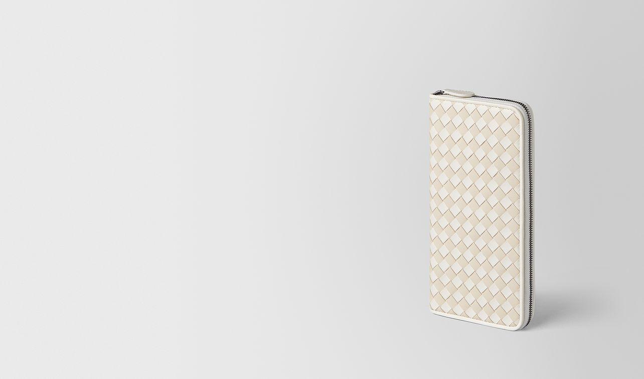 latte mist intrecciato palio zip-around wallet landing