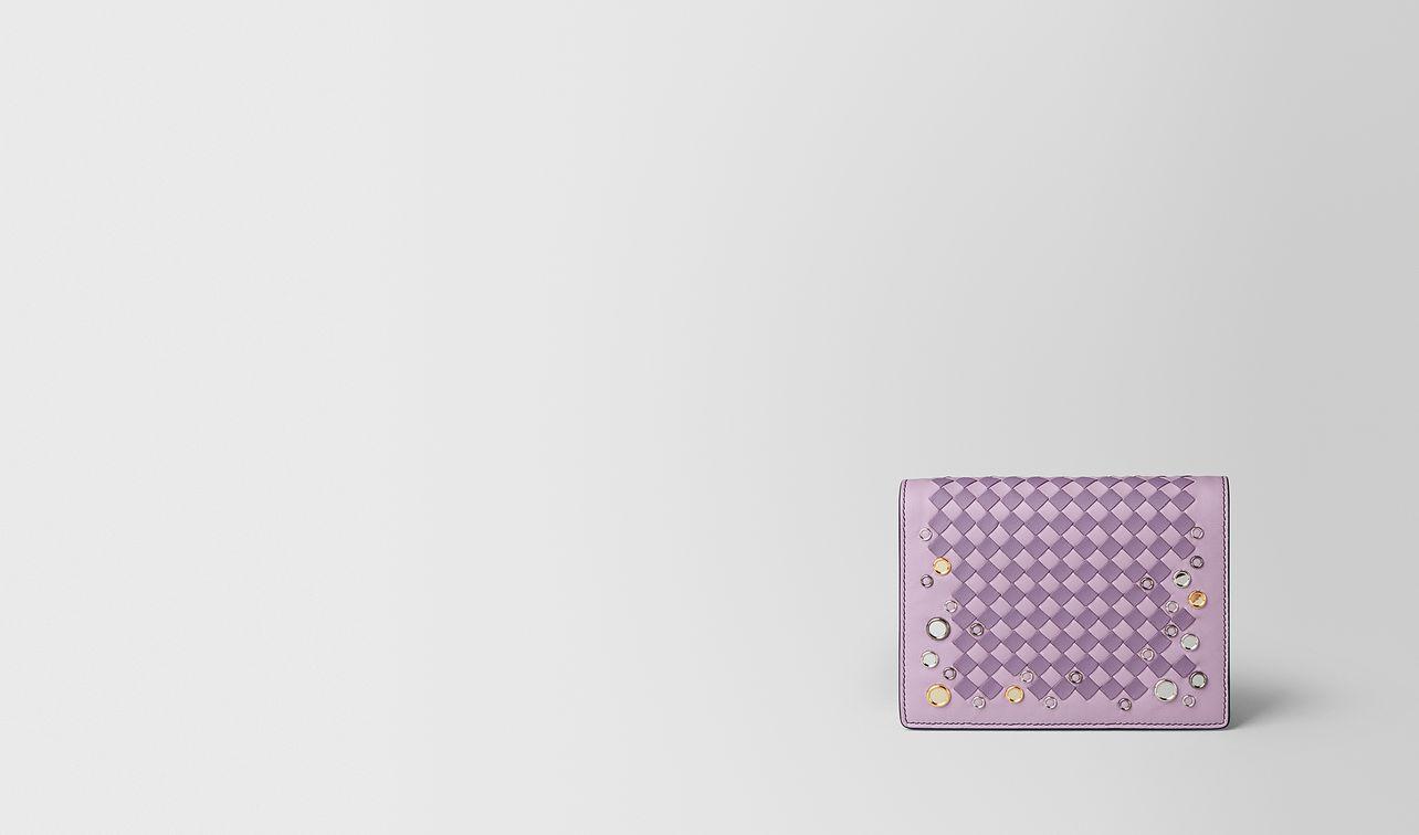 parme lilac intrecciato palio chain wallet landing