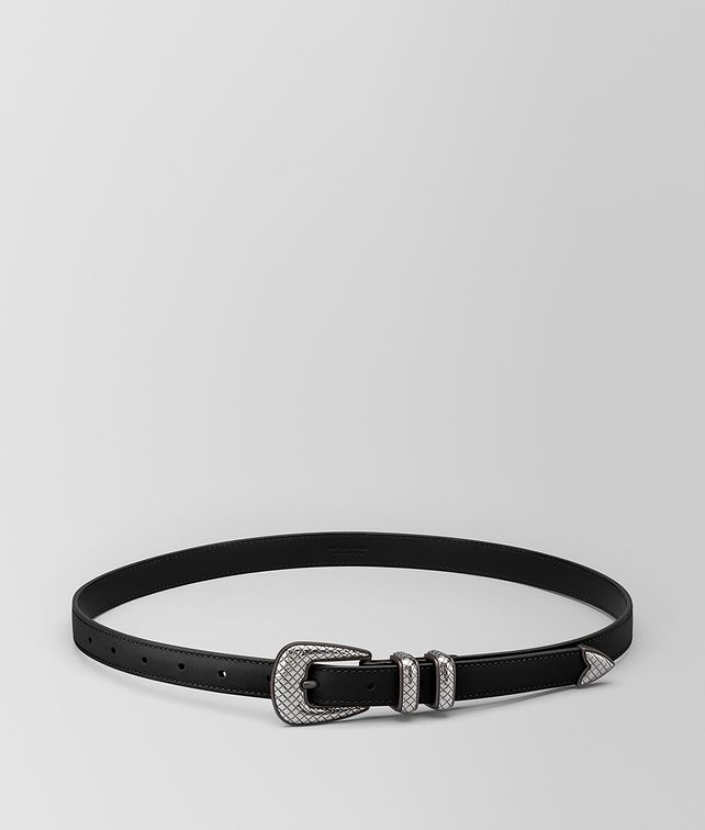 BOTTEGA VENETA NERO FRENCH CALF BELT Belt Man fp