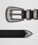 BOTTEGA VENETA NERO CALF BELT Belt Man rp