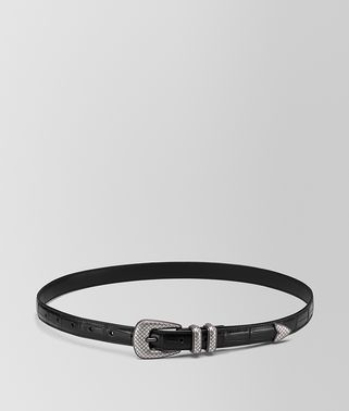 NERO CROCODILE BELT