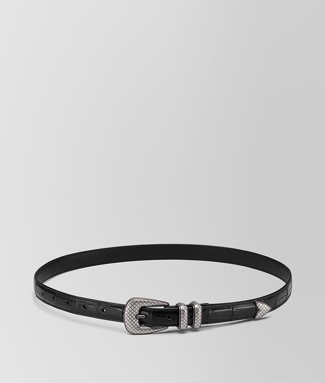 BOTTEGA VENETA NERO CROCODILE BELT Belt [*** pickupInStoreShippingNotGuaranteed_info ***] fp
