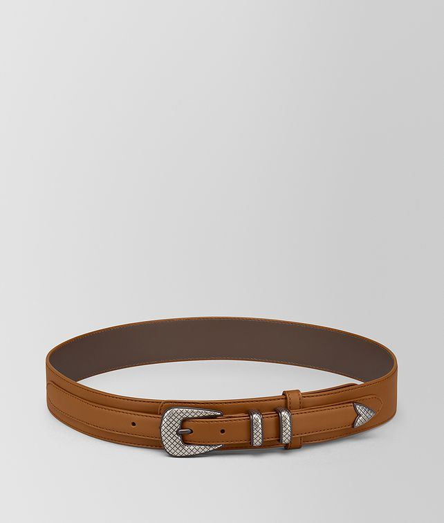 BOTTEGA VENETA LIGHT CALVADOS FRENCH CALF BELT Belt Man fp