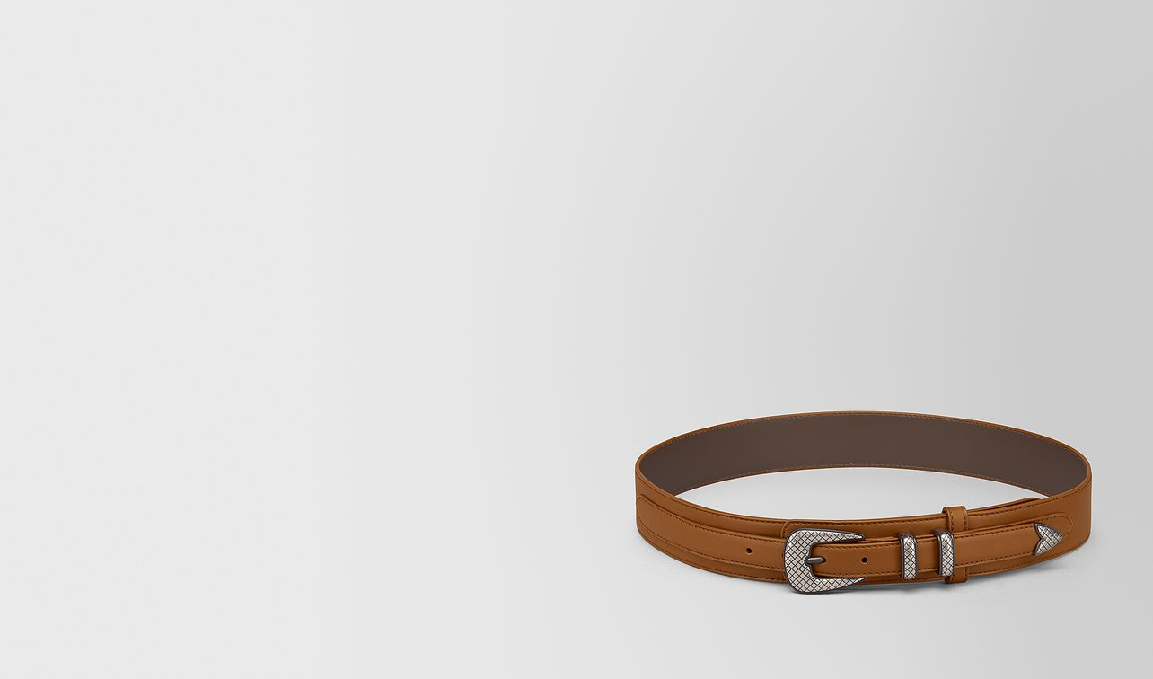 light calvados french calf belt landing
