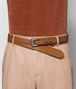 light calvados french calf belt Front Detail Portrait