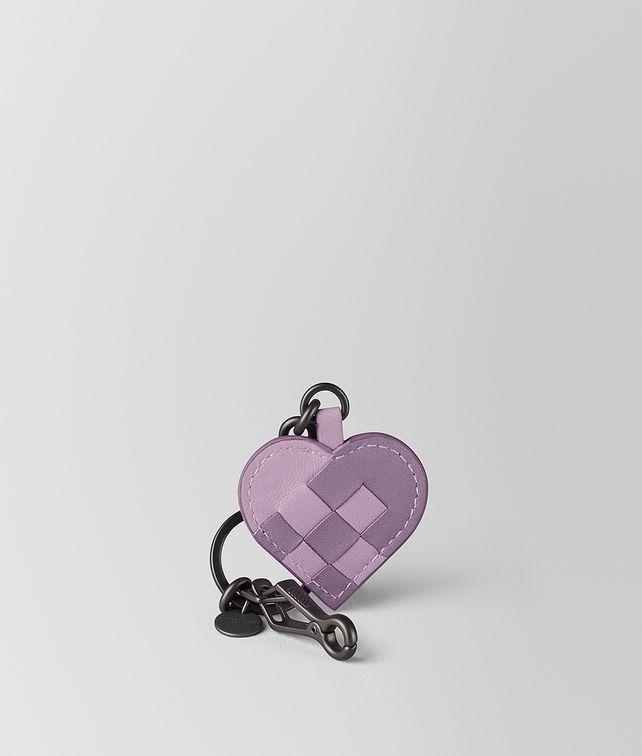 BOTTEGA VENETA PARME LILAC INTRECCIATO PALIO KEY RING Keyring or Bracelets E fp
