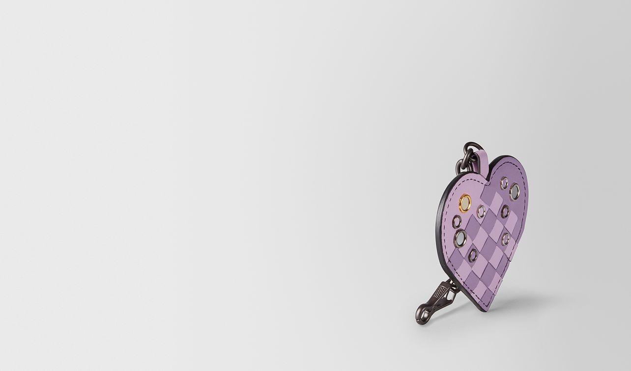 schlüsselanhänger aus intrecciato palio in parme lilac landing