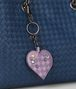 parme lilac intrecciato palio key ring Front Detail Portrait