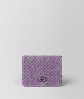 LILAC BVELVET AYERS CHAIN WALLET