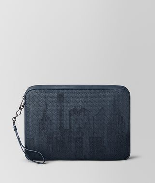 DENIM INTRECCIATO NORTH-EAST DOCUMENT CASE