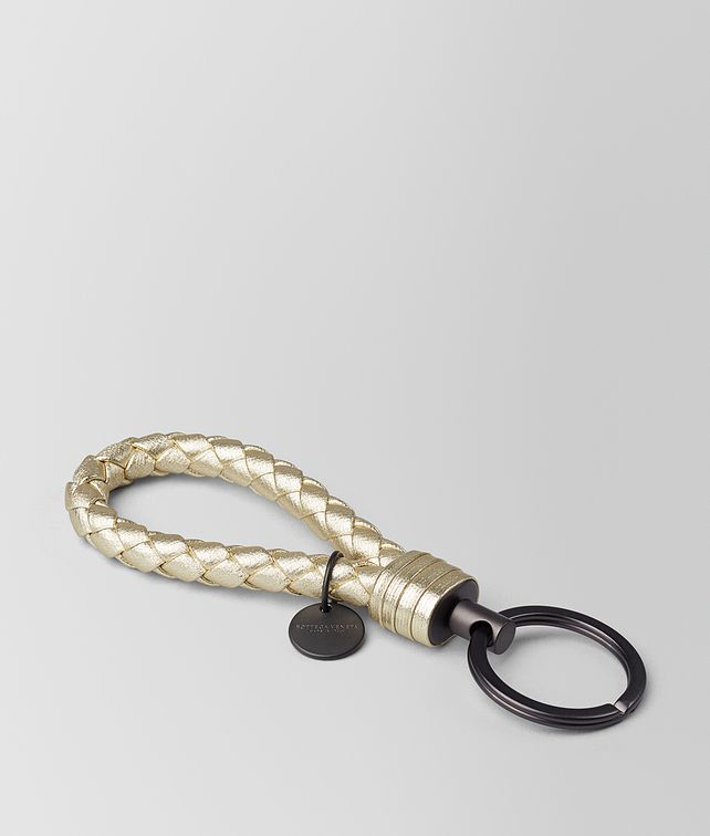 BOTTEGA VENETA PLATINO INTRECCIATO GROS GRAIN KEY RING Keyring or Bracelets E fp