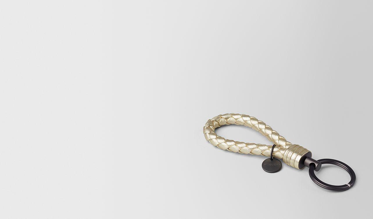 platino intrecciato gros grain key ring landing