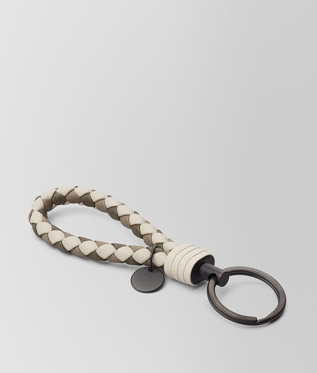 BOTTEGA VENETA MIST INTRECCIATO LAMB CLUB KEY RING Keyring or Bracelets E fp