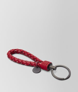 CHINA RED AYERS/INTRECCIATO NAPPA KEY RING