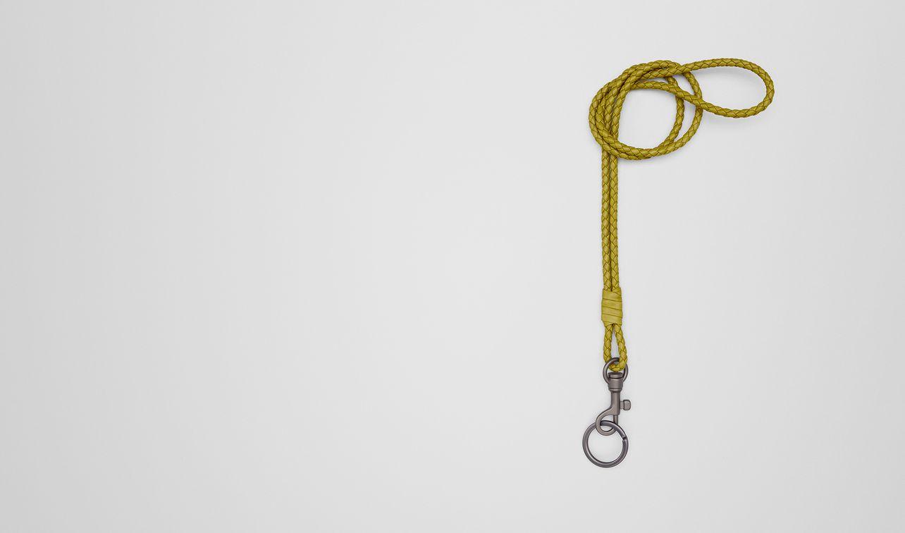 chamomile intrecciato nappa key holder landing