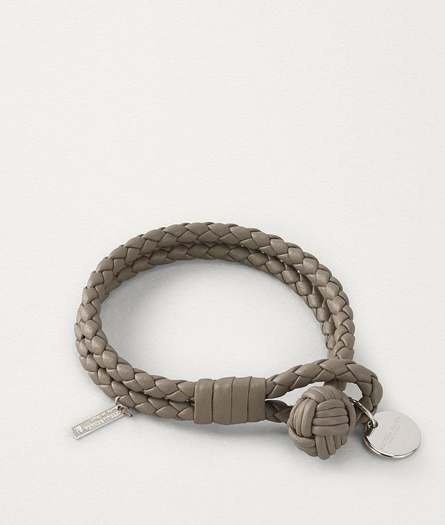 BOTTEGA VENETA LIMESTONE INTRECCIATO NAPPA BRACELET Other Accessories E fp