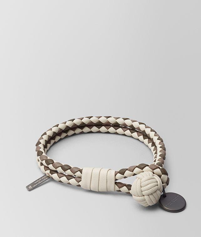 BOTTEGA VENETA MIST INTRECCIATO LAMB CLUB BRACELET Keyring or Bracelets E fp