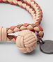 BOTTEGA VENETA PEACH ROSE INTRECCIATO LAMB CLUB BRACELET Keyring or Bracelets E ap