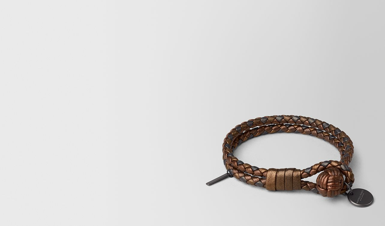 dark bronze intrecciato nappa bracelet landing
