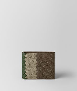 MULTICOLOR INTRECCIATO CLUB LAMB WALLET