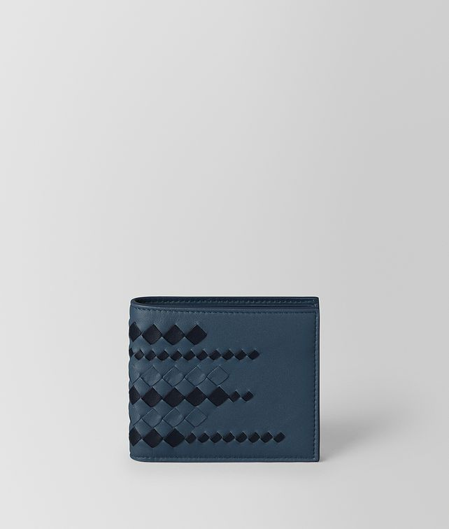 BOTTEGA VENETA DENIM/TOURMALINE NAPPA WALLET Bi-fold Wallet [*** pickupInStoreShippingNotGuaranteed_info ***] fp