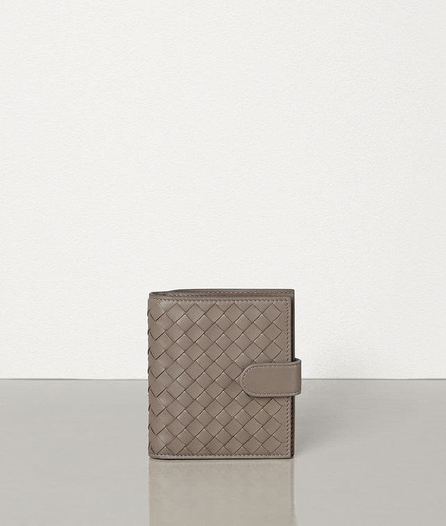 BOTTEGA VENETA LIMESTONE INTRECCIATO NAPPA MINI WALLET Small Wallet [*** pickupInStoreShipping_info ***] fp